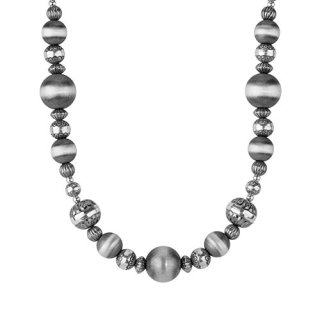 American West Sterling Silver Native Pearl Beaded Necklace