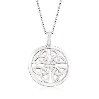 Ross-Simons Sterling Silver Celtic Trinity Knot Pendant Necklace