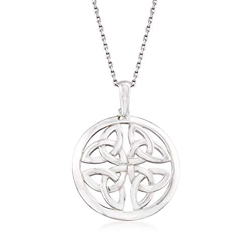 Ross-Simons Sterling Silver Celtic Trinity Knot Pendant Necklace