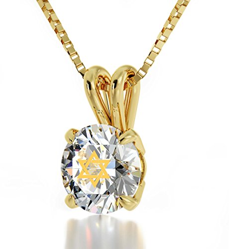 Nano Jewelry Gold Plated Jewish Star of David Necklace