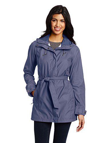 Columbia Women's Pardon My Trench Rain Jacket, Nocturnal