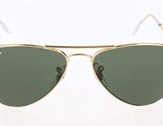 Ray-Ban Aviator Small Metal Sunglasses, Gold/Green