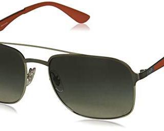 Ray-Ban Square Metal Sunglasses, Gunmetal on Silver/Grey Gradient