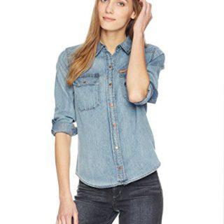 Calvin Klein Jeans Women's Long Sleeve Denim Button Down Shirt