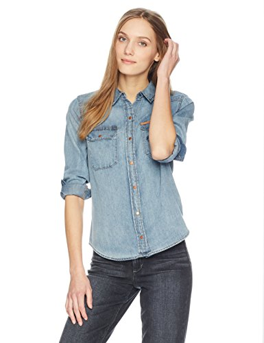 Calvin Klein Jeans Women's Long Sleeve Denim Button Down Shirt