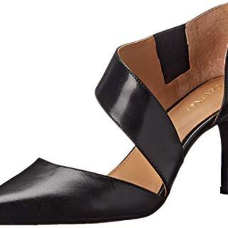 Calvin Klein Women's Gella Dress Pump, Black Leather