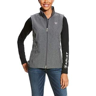 ARIAT Women's Journey Softshell Vest Charcoal Grey