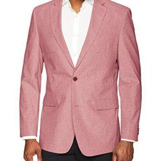 Tommy Hilfiger Men's Modern Fit Seersucker Suit Separates-Custom Jacket