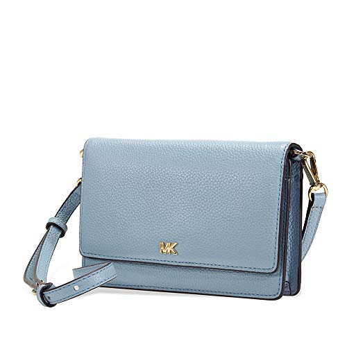 Michael Kors Pebbled Leather Convertible Crossbody- Powder Blue