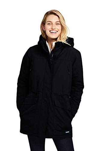 Lands' End Women's Squall Winter Parka X-Large Black