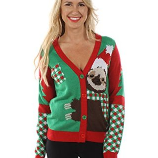 Tipsy Elves Women's Sloth Ugly Christmas Sweater