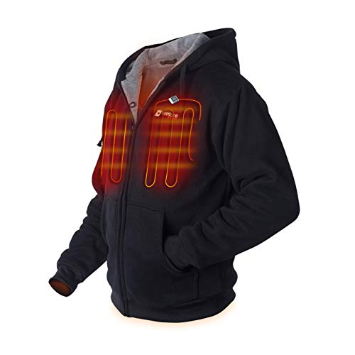 Venture Heat Heated Hoodie with Battery Pack - Electric Sweater Jacket