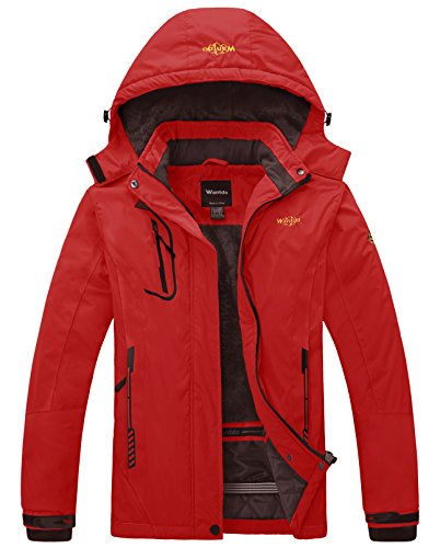 Wantdo Women's Waterproof Mountain Jacket Fleece Windproof Ski