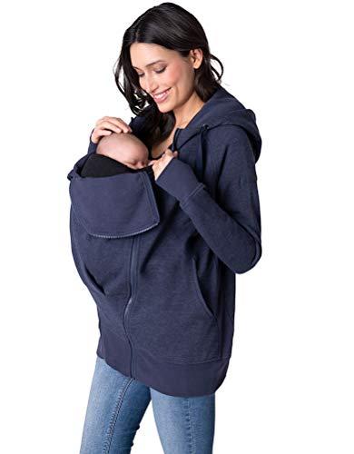 Seraphine Women's Navy Blue 3 in 1 Maternity Hoodie