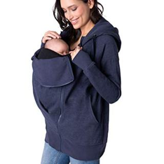 Seraphine Women's Navy Blue 3 in 1 Maternity Hoodie