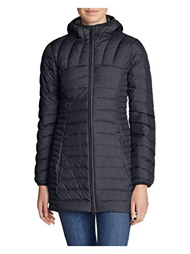 Eddie Bauer Women's Astoria Hooded Down Parka, Dk Charcoal HTR Regular M