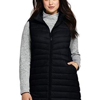 Lands' End Women's Plus Size Ultralight Packable Down Vest