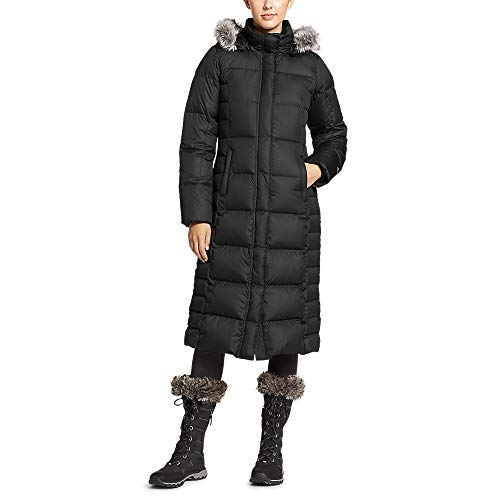 Eddie Bauer Women's Lodge Down Duffle Coat, Black Plus 3X