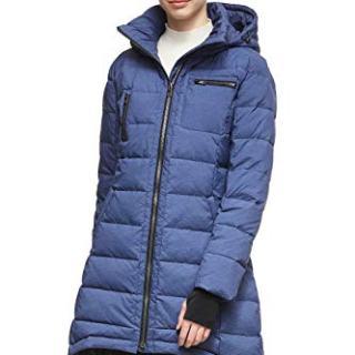 Orolay Women's Down Jacket Coat Winter Mid-Length Blue S