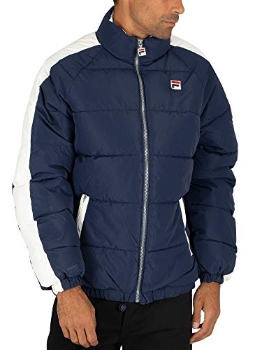 Fila Vintage White Line Mens Ledger 90s Puffer Jacket