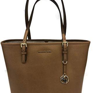 MICHAEL Michael Kors Jet Set Travel Medium Carryall Tote Saffiano Leather - Luggage