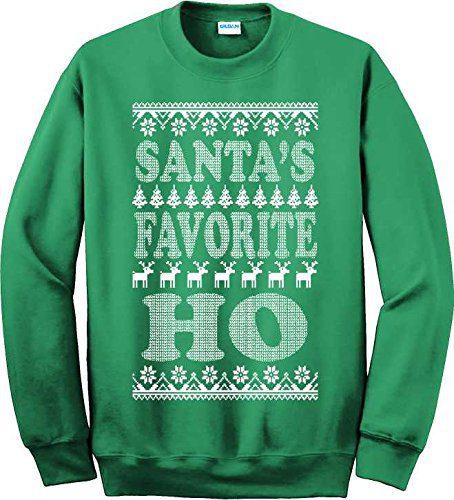 UNAMEIT Santa's Favorite Ho Ugly Xmas Sweater