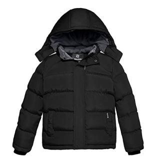 Wantdo Boy's Fleece Warm Winter Jacket Cotton Padded Puffer Jacket
