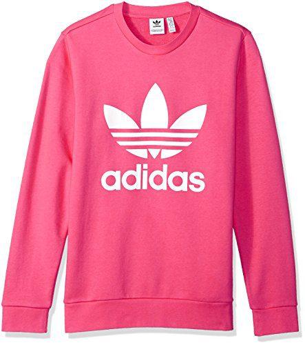 adidas Originals Girls' Big Originals Trefoil Crew Sweatshirt