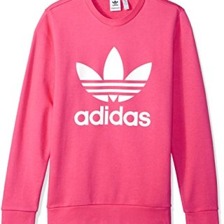 adidas Originals Girls' Big Originals Trefoil Crew Sweatshirt