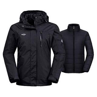 Wantdo Women's Interchange Jacket 3-in-1 Winter Coat Wind