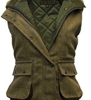 Walker and Hawkes Women's Derby Tweed Shooting Waistcoat