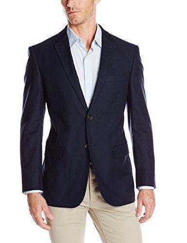 U.S. Polo Assn. Men's Cotton Solid Sport Coat, Navy