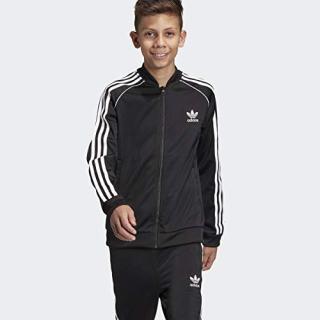 adidas Originals Boys' Big Superstar Jacket, black/white