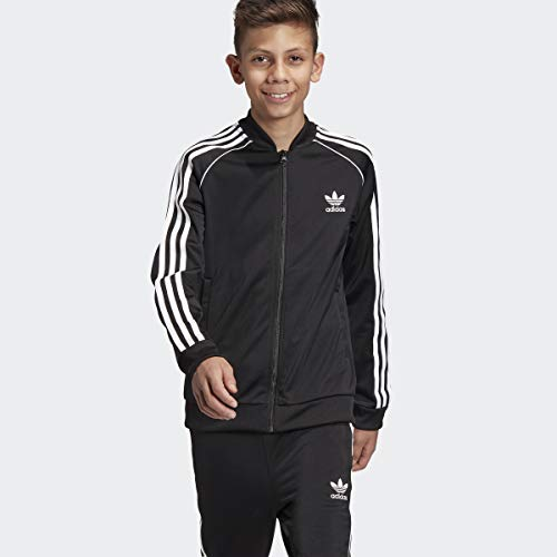 adidas Originals Boys' Big Superstar Jacket, black/white