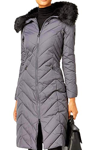 Laundry by Shelli Segal Full Length Puffer Coat Grey