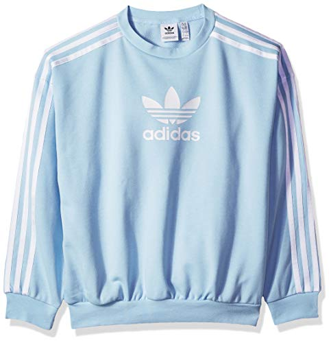 adidas Originals Girls' Big Cc Crew, light pink/white