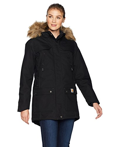 Carhartt Women's Quick Duck Sawtooth Parka, Black, XX-Large