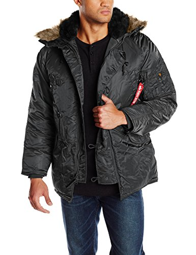 Alpha Industries Men's N-3B Parka Jacket, Black