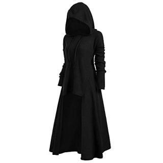 iDeesse Women's Plus Size Long Sleeve Hooded Collar High Low