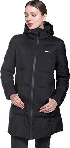 Beinia Valuker Women's Seamless Hooded Down Coat Jacket Puffer Parka Jacket Black-11-XL