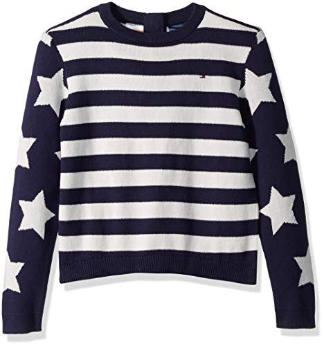Tommy Hilfiger Girls Adaptive Sweater with Magnetic Button Closure