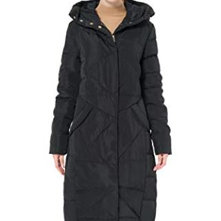 Orolay Women's Puffer Down Coat Winter Maxi Jacket with Hood Black XL