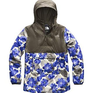 The North Face Women's Printed Fanorak, New Taupe Green/Aztec Blue