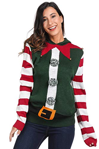 For G and PL Christmas Womens Costume Ugly Kint Sweatshirt Funny Cute