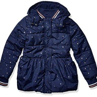 Nautica Little Girls Heavy Weight Jacket with Removable Hood