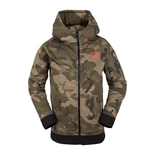 Volcom Girls' Big Krestova 280g Hydrophobic Hooded Fleece Sweatshirt
