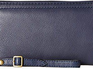 Frye Women's Lily Zip Wallet Navy One Size