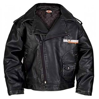 HARLEY-DAVIDSON Little Boys' Upwing Eagle Biker Pleather Jacket