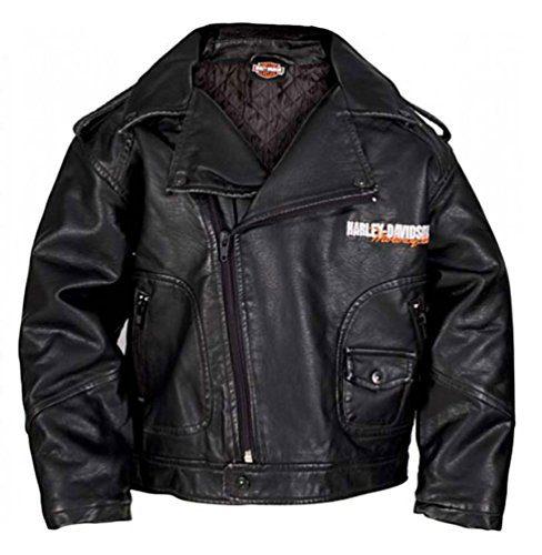 HARLEY-DAVIDSON Little Boys' Upwing Eagle Biker Pleather Jacket