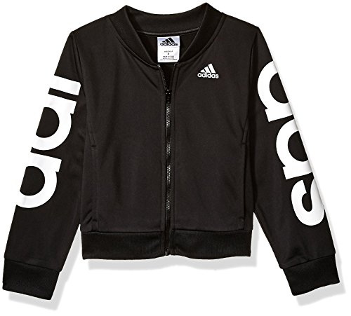 adidas Girls' Big Bomber Jacket, Black Heather